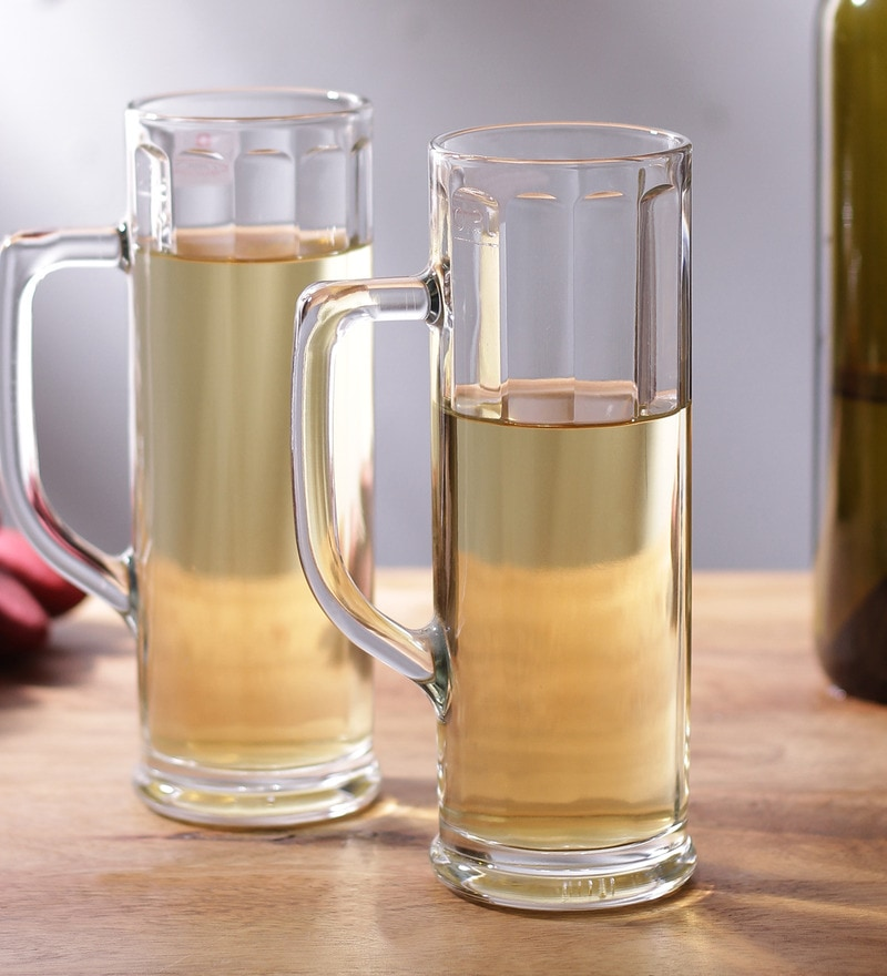 Buy Borgonovo Ireland Ottica Glass 370 Ml Beer Mug Set