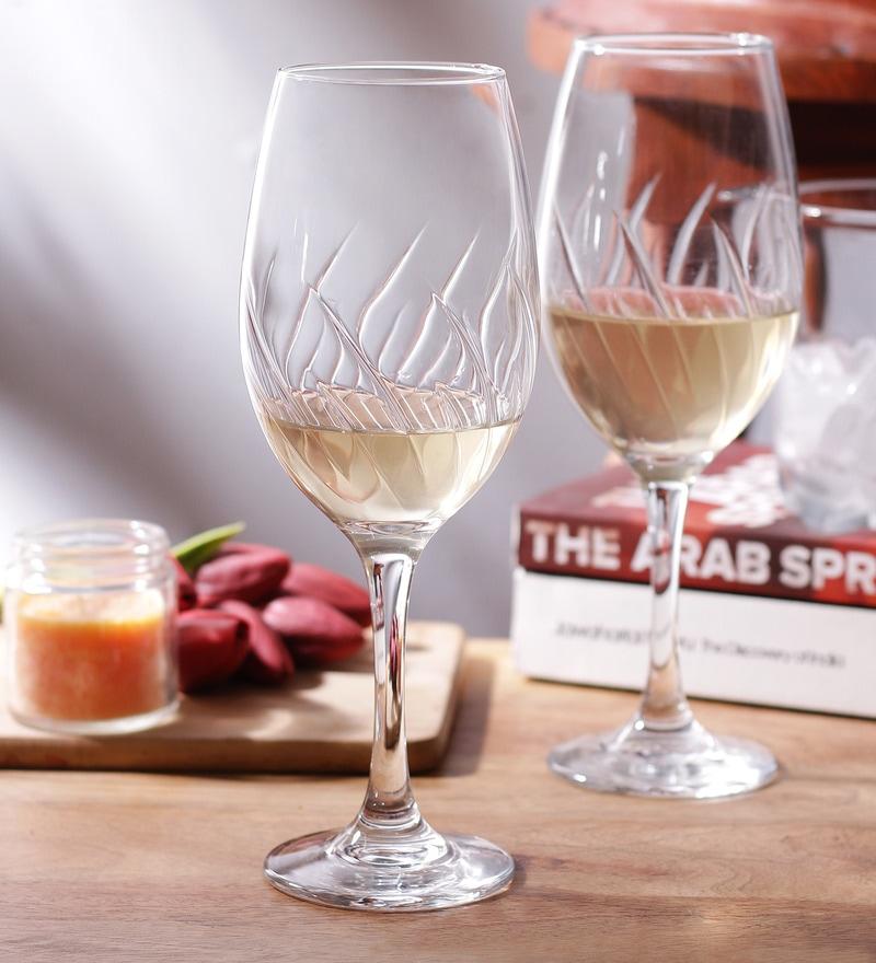 Borgonovo Mistral Glass 250 ML Stem Glass - Set Of 2