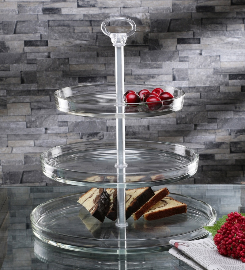 Borgonovo Palladio 3 Tier Glass Cake Stand