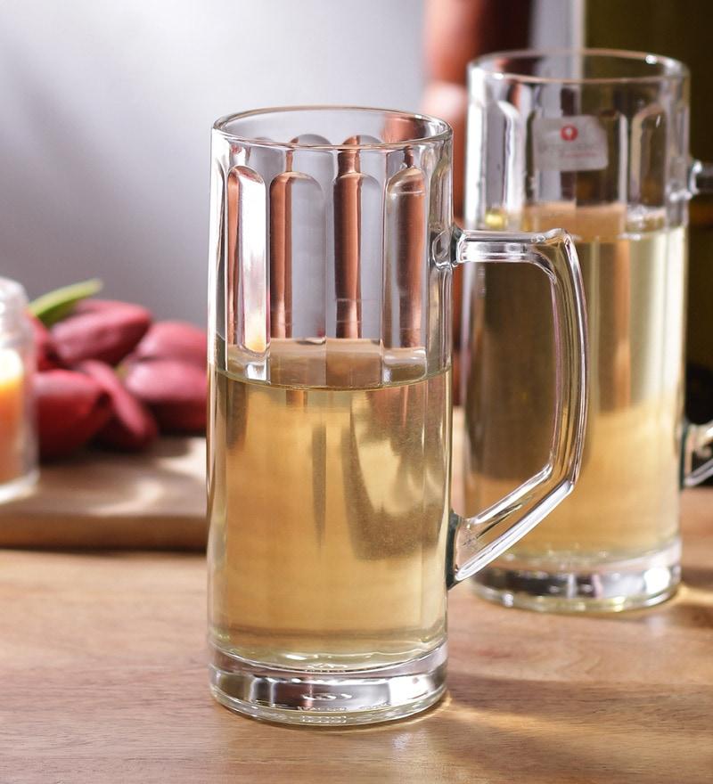 Borgonovo Tazza Reno Glass 300 ML Beer Mug - Set Of 6