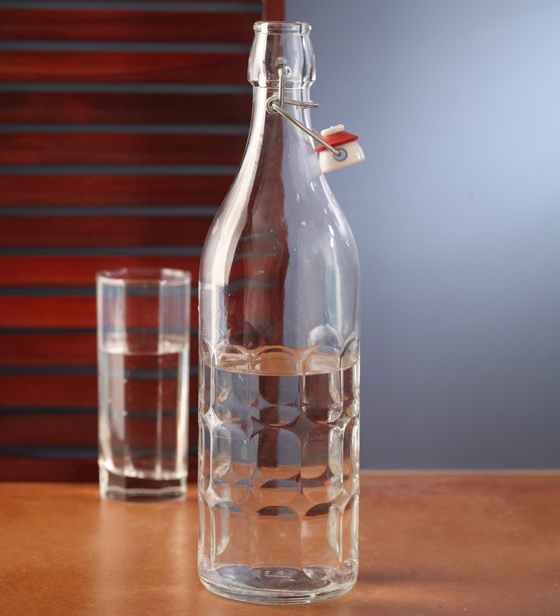 Bormioli Rocco Moresca Clear Glass 1 L Bottle - Set of 2