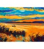 Hashtag Decor Boat in Lake Engineered Wood 27 x 20 Inch Framed Art Panel