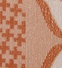 Orange Cotton Floral Double Bed Sheet (with Pillow Cover) - Set of 3 by Bombay Dyeing
