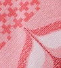 Pink Cotton Floral Double Bed Sheet (with Pillow Cover) - Set of 3 by Bombay Dyeing