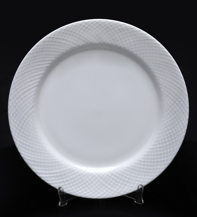 BP Bharat Diamond Fine Bone China Plate - Set of 12