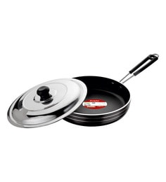 Bright Home Appliances Household Aluminum Fry Pan With Lid