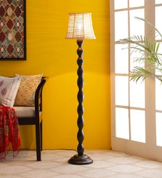 Brown Bamboo Floor Lamp - 1680016