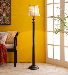 Brown Bamboo Floor Lamp - 1680026