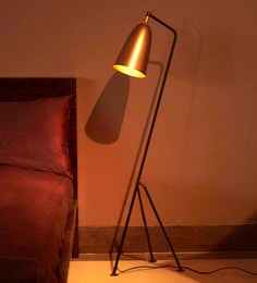 Brown Copper Floor Lamp