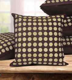 Brown Dupion Silk 16 X 16 Inch Cushion Covers - Set Of 5 - 1631295