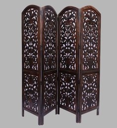 Brown MDF Handcrafted Partition Screen