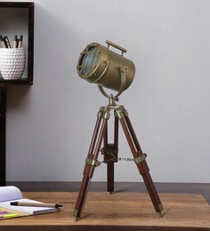 Brown Metal Table Tripod Lamp - 1711230