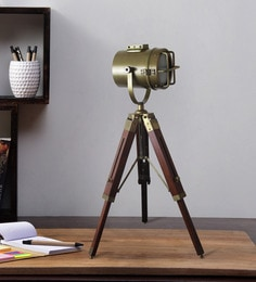 Brown Metal Table Tripod Lamp - 1711239