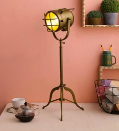 Brown Metal Table Tripod Lamp - 1690797
