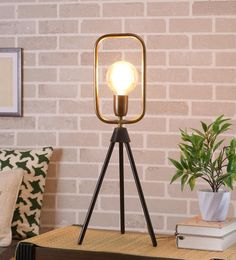 Brown Mild Steel Table Lamp - 1708476