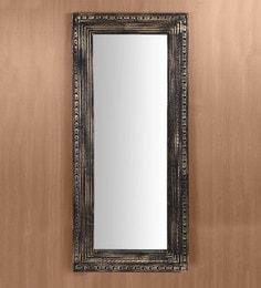 Brown Pine Wood Handmade Decorative Wall Mirror