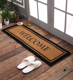 Brown Rubberised Coir 16 X 48 Extra Large Printed Double Door Mat