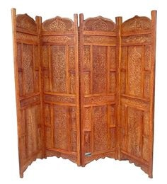 Brown Sheesham Wood Handmade Partition Screen