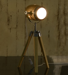 Tripod table lamps buy tripod table lamps online best price brown wood table tripod spotlight lamp mozeypictures Gallery