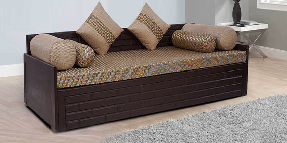 Brick Sofa Bed In Brown Colour