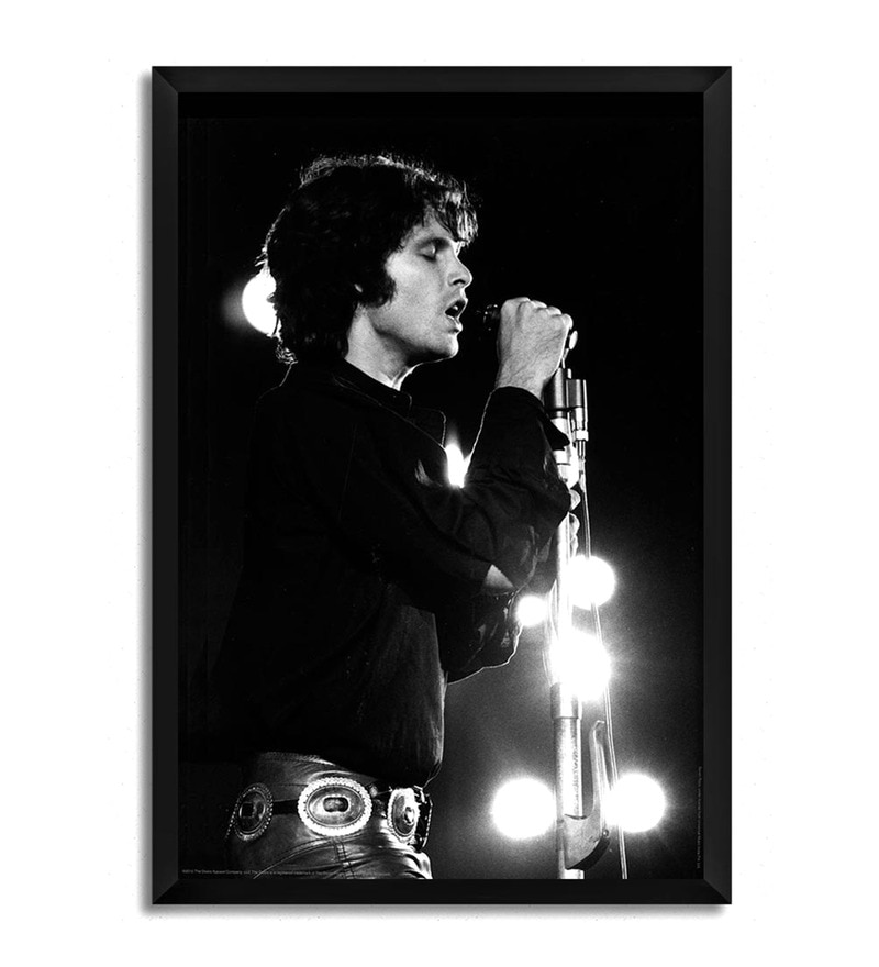 Fibre with Wood Texture 13 x 19 Inch Jim Morrison Framed Posters by Bravado