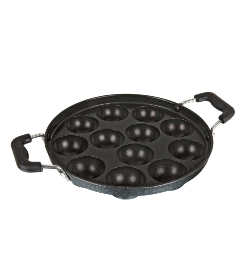 Bright Home Appliances Aluminium Black Appam Patra