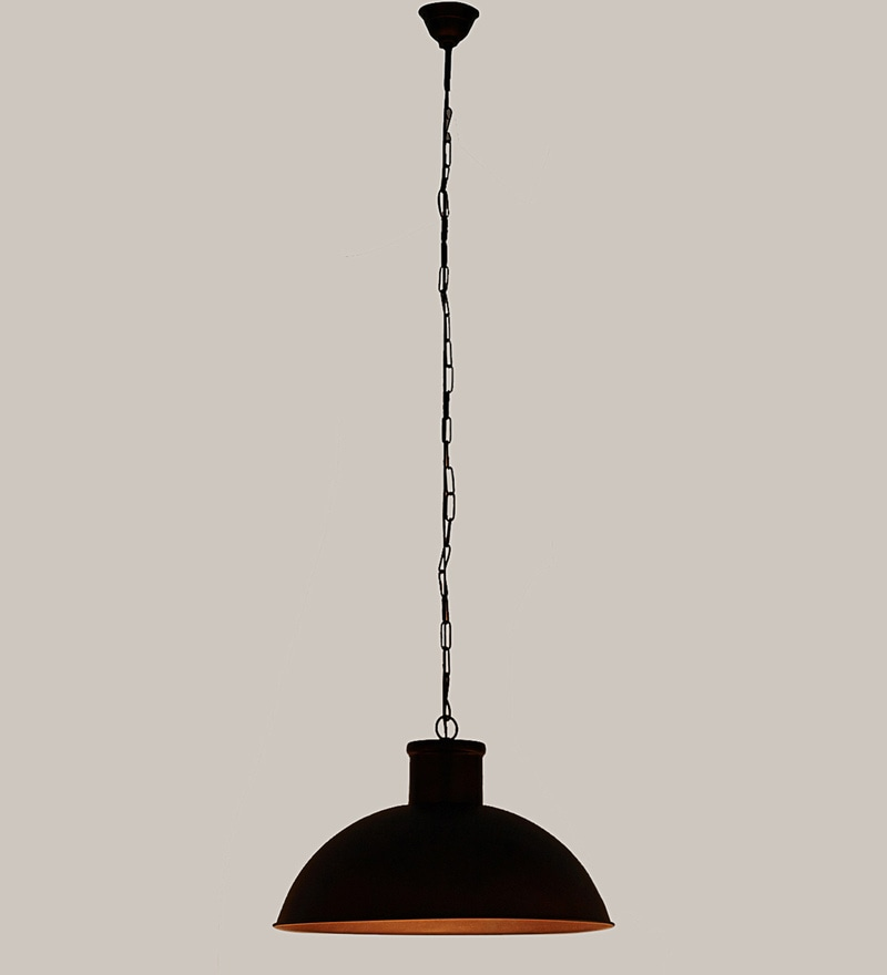 Brown Mild Steel Pendant by Kapoor E Illuminations