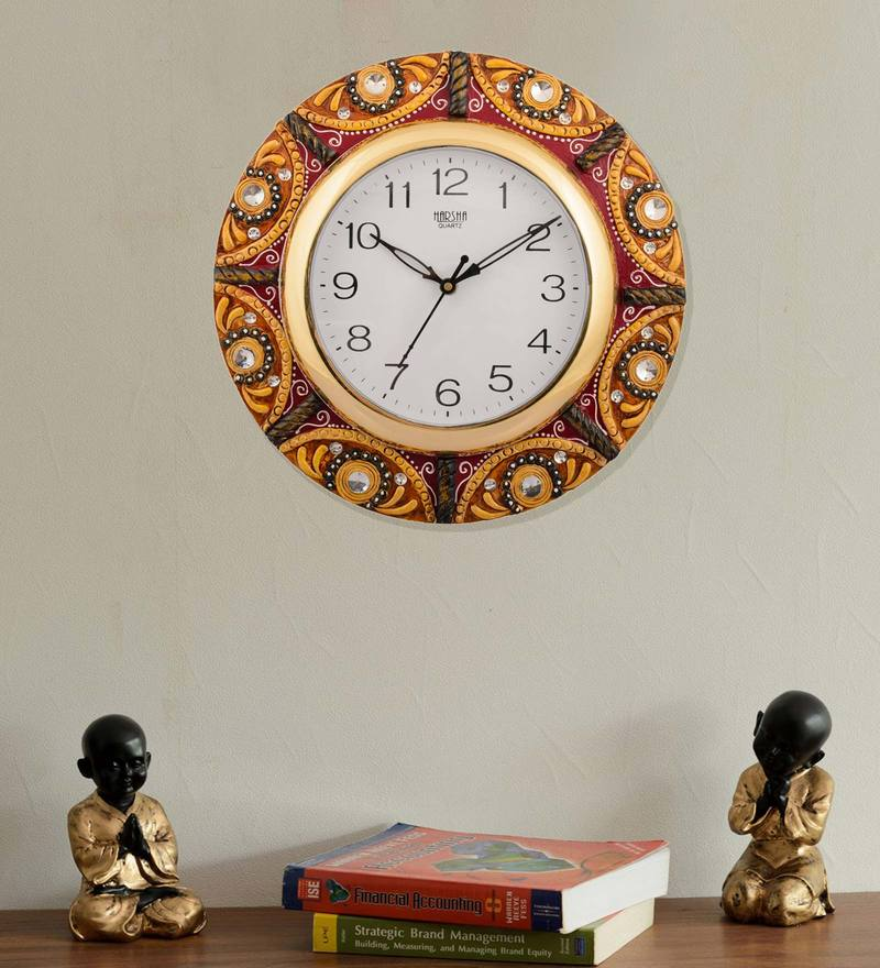 Buy Mad(e) In India - Charkha Wall Clock Online - Indian