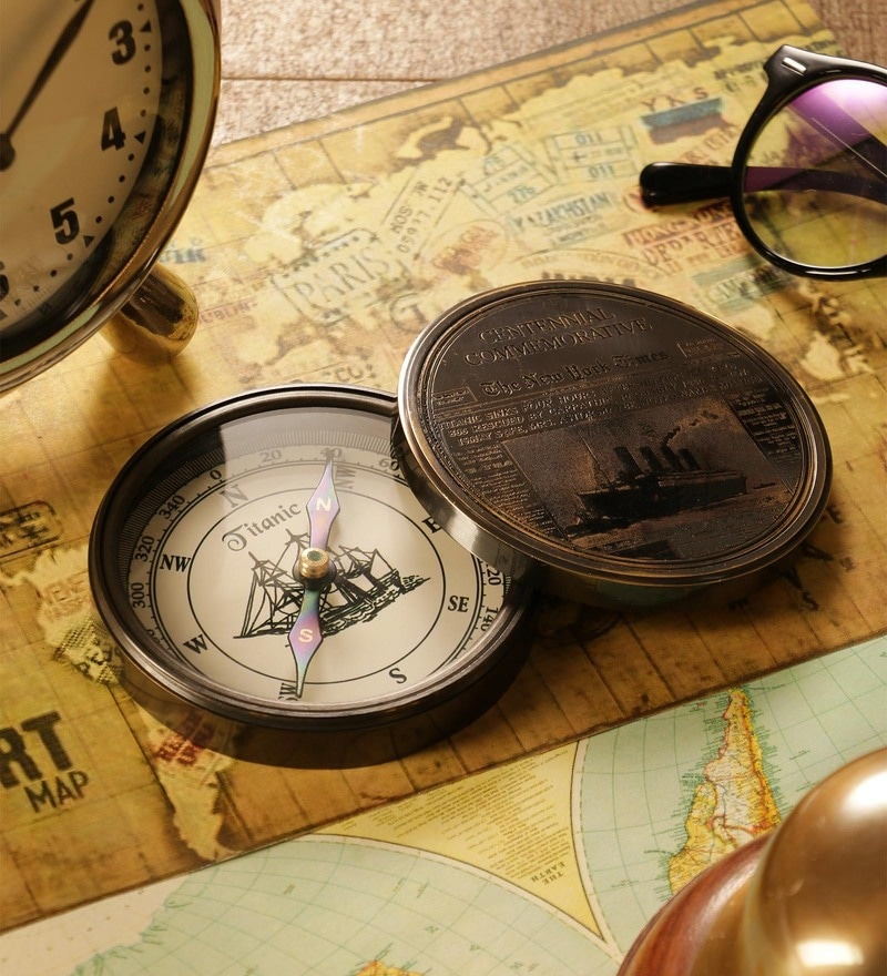 Brown Titanic Compass by Exim Decor