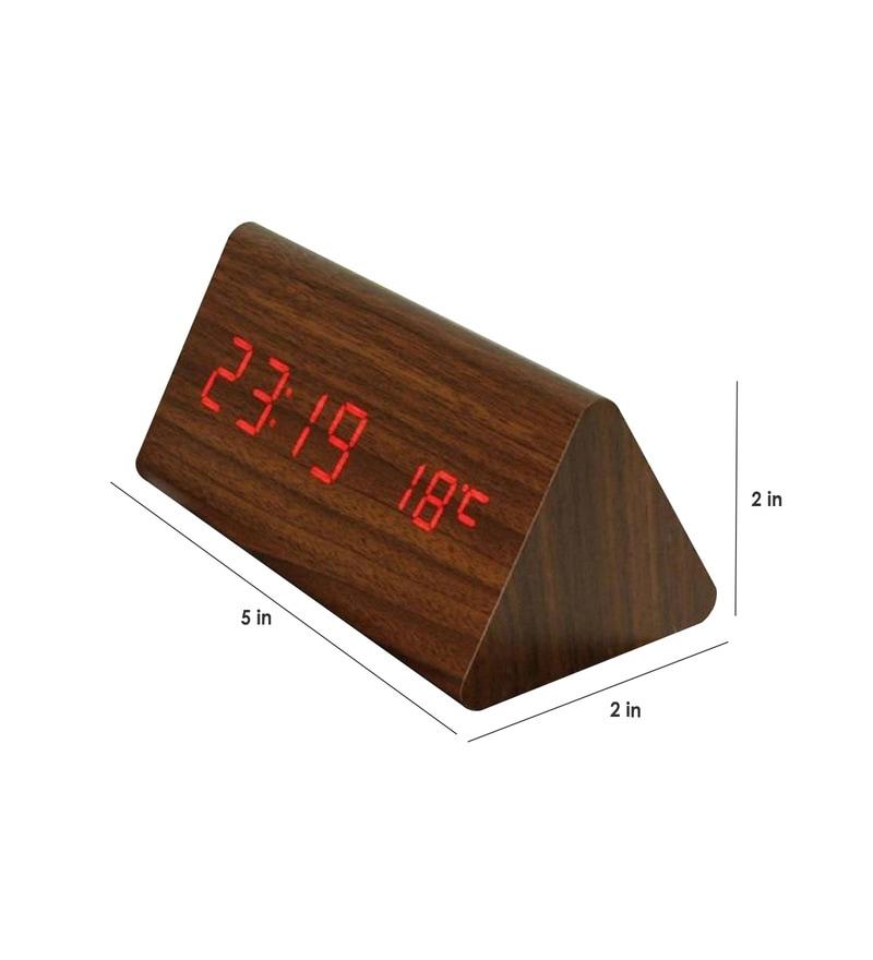 bdb3821edd9 Buy Brown Wood Table Clock by Art of Jodhpur Online - Table Clocks ...