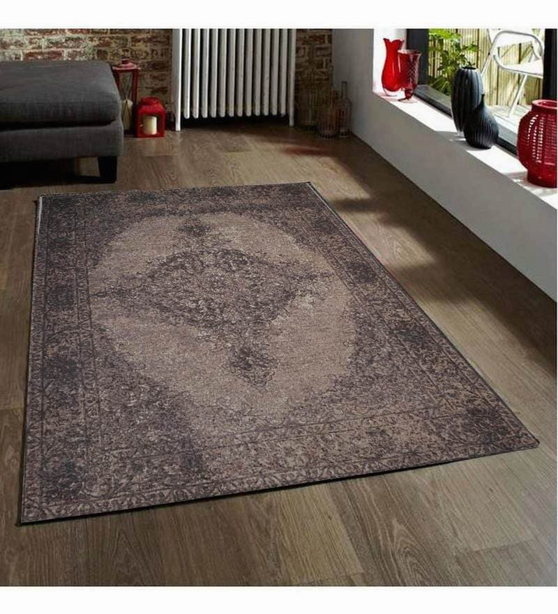 Brown Wool 90 x 63 Inch Carpet by Designs View