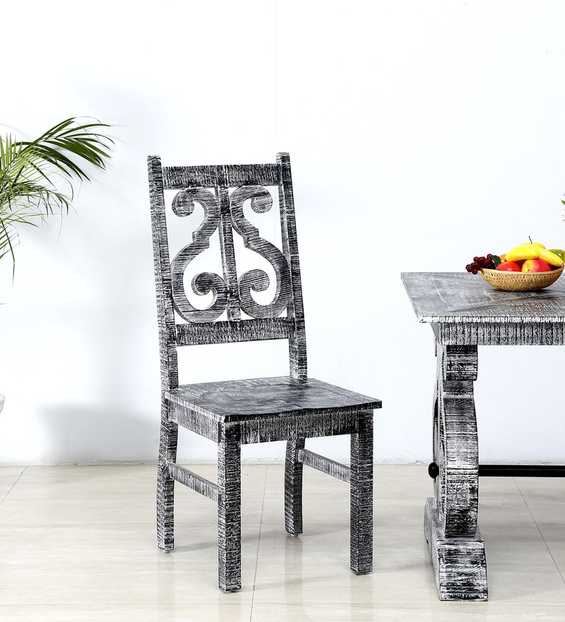Brunswick Dining Chair in Grey Distress  Finish by Bohemiana