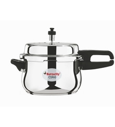 Butterfly Curve Stainless Steel 2 Ltr Pressure Cooker With Outer Lid