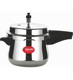 Butterfly Pearl Plus Aluminium 3 Ltr Pressure Cooker With Outer Lid