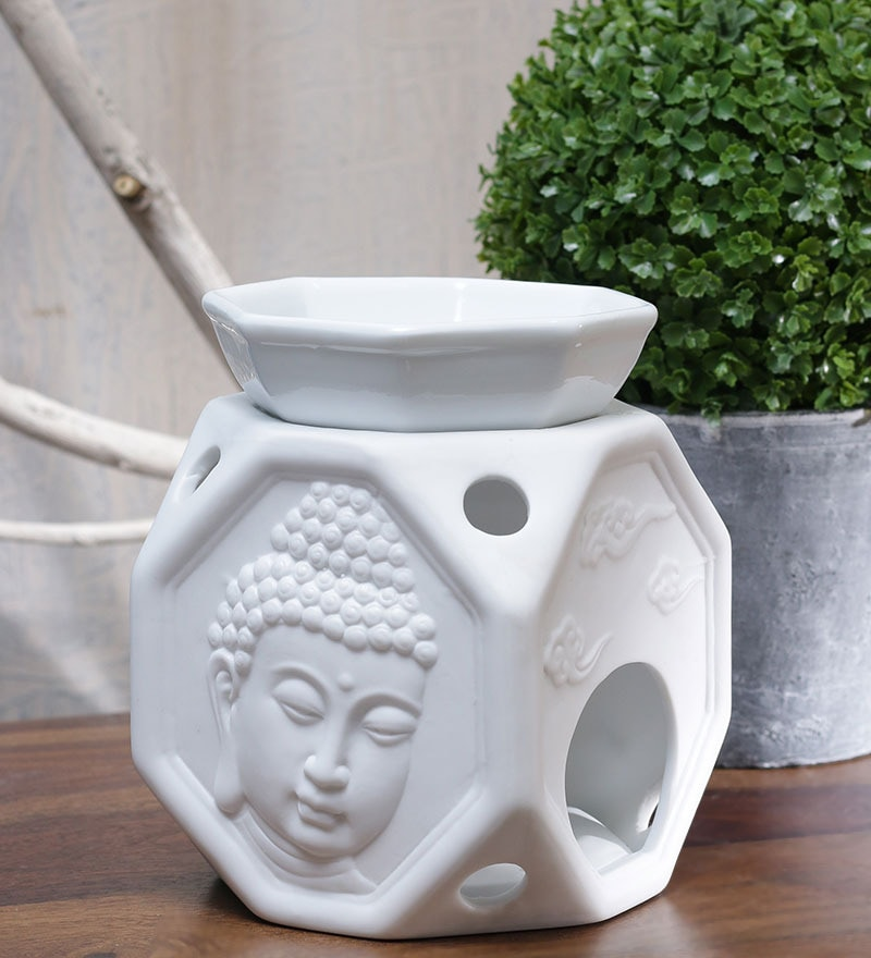 Buddha Face Octagon Oil Burner by Importwala.com