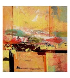 Canvas 32 X 0.2 X 32 Inch Unframed Handpainted Art Painting - 1632974