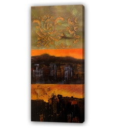 Canvas 36 X 0.2 X 78 Inch Unframed Handpainted Art Painting