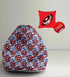Captain Amercia Shields Digital Printed Bean Bag XXL Filled With Beans