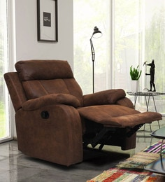 Carrera One Seater Recliner With Rocker In Brown Colour
