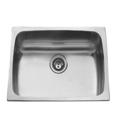 Carysil Elegance Matt Stainless Steel Single Bowl Kitchen Sink - 18x18x7