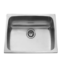 Carysil Elegance Matt Stainless Steel Single Bowl Kitchen Sink - 19x16x7