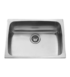 Carysil Elegance Matt Stainless Steel Single Bowl Kitchen Sink - 24x18x8
