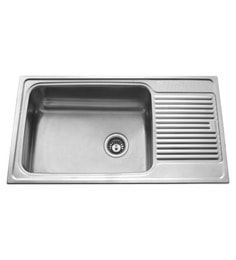 Carysil Vogue Matt Stainless Steel Single Bowl Kitchen Sink With Drainer - 36x20x8