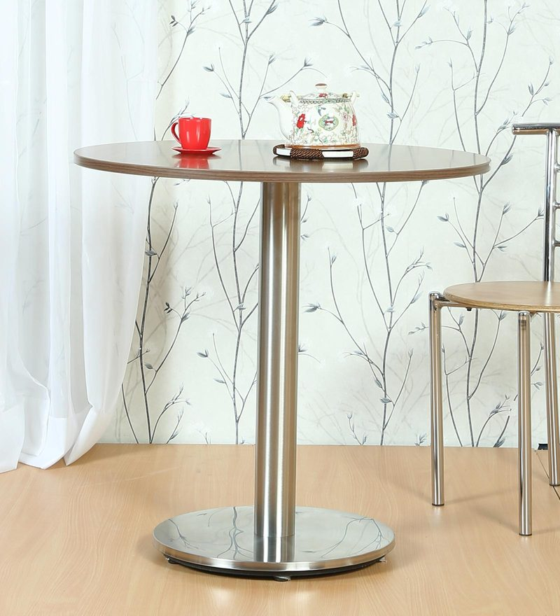 Cafeteria Round Table with Metallic Base by FullStock