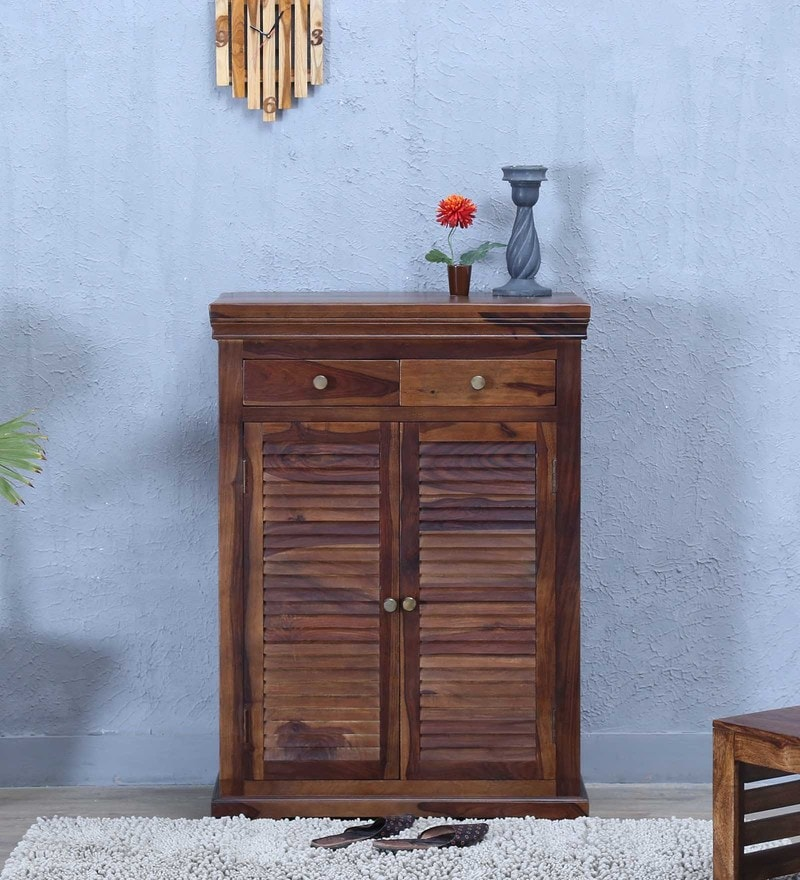 Carleson Shoe Rack in Provincial Teak Finish by Amberville