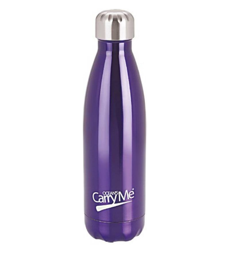 CarryMe Aqua Blue Stainless Steel 500 ML Hot & Cold Bottle