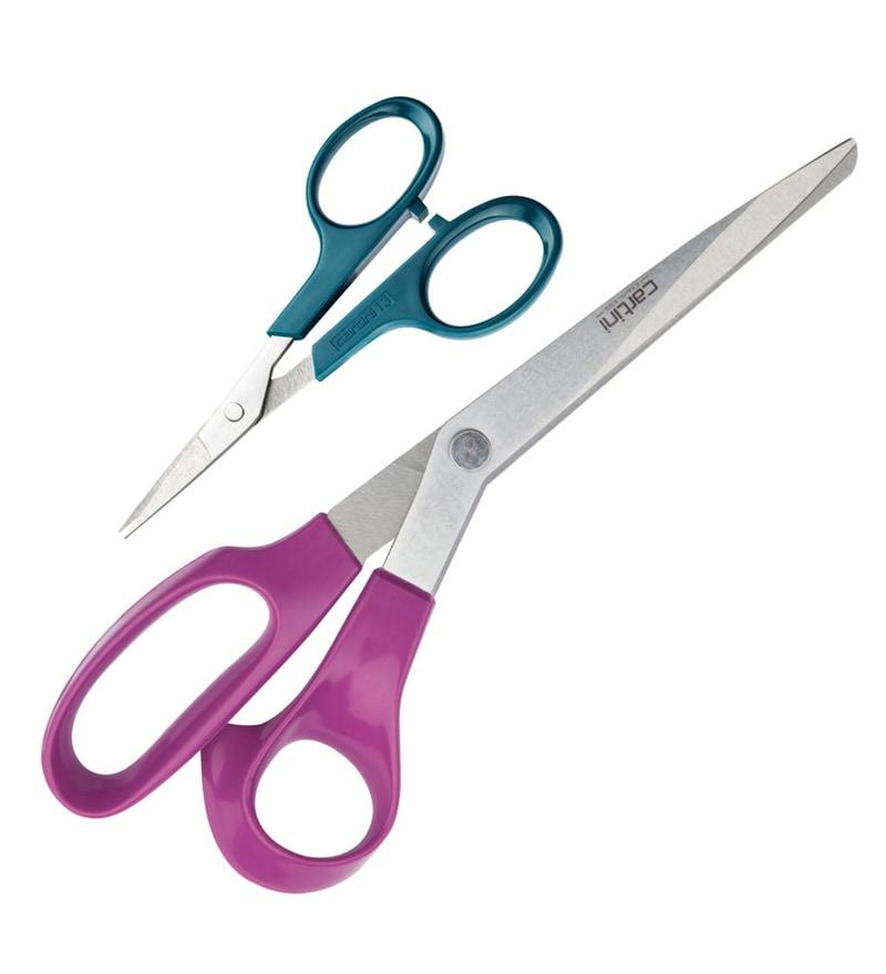 Cartini Multicolour Stainless Steel Scissors - Set of 2