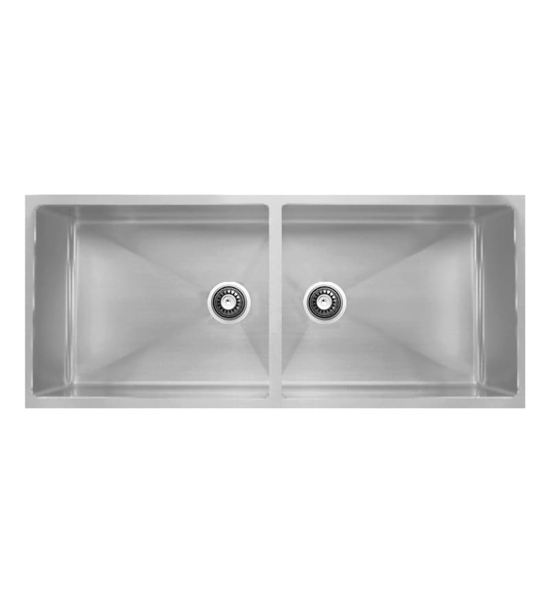 Carysil Quadro Stainless Steel Double Bowl Kitchen Sink (Model No: Qdb34208)