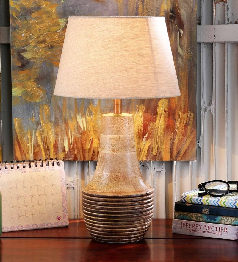 Feliz Table Lamp in White by Casacraft