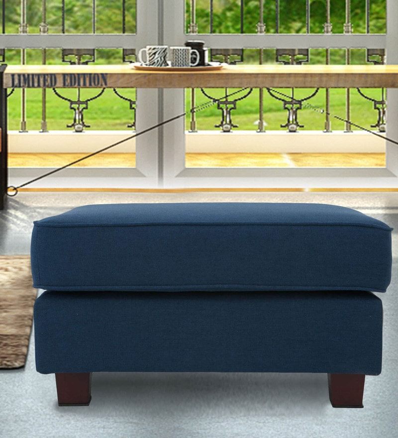 Castilla Ottoman in Navy Blue Colour by CasaCraft